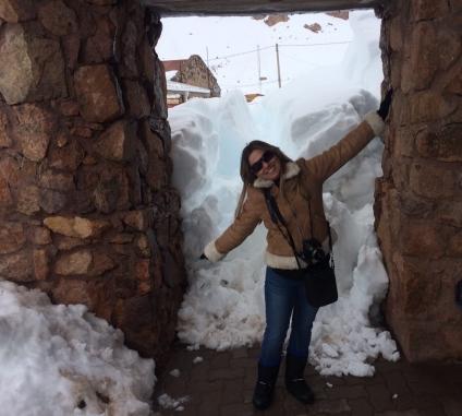 No mínimo um metro e meio de neve rsrs