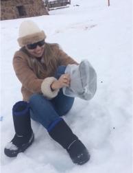 A estranha bota para neve